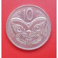 63-04 Новая Зеландия, 10 центов 1976 г. Единственное предложение монеты данного года на АУ