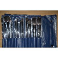 Набор кисточек для нанесения макияжа 12 кисточек ( натуральный ворс ) 1.