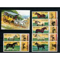 Кампучия 1989г, породы лошадей, 7м, 1 блок