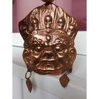 Монгольская ритуальная маска Медь