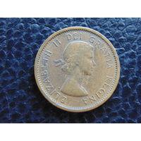 Канада 1963 г. 1 цент. Елизавета II.
