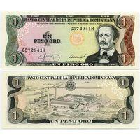 Доминиканская Республика. 1 песо (образца 1987 года, P126b, UNC)