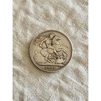 Великобритания 1 крона 1898 г.