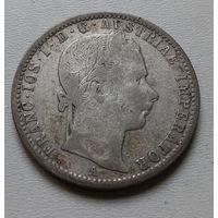 Австрия 1/4 флорина 1861 г.