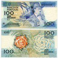 Португалия. 100 эскудо (образца 03.12.1987 года, P179d, подпись 2, XF)