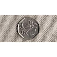 Мальта 5 центов 1998 /фауна//(JN)