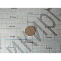 Монета 1 цент Литва 1991