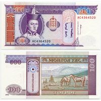 Монголия. 100 тугрик (образца 1994 года, P57, UNC)