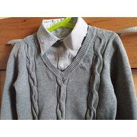Обманка M&D 1-2 класс для мальчика школы джемпер рубашка свитер кардиган