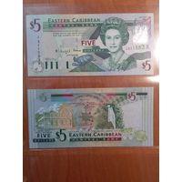 Антигуа и Барбуда 5 долларов.А