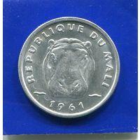Мали 5 франков 1961 , Гиппопотам , UNC