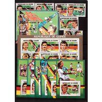 Гвинея-1991 (Мих.1308-1313,Бл.380-385) ** +м/л , Спорт, ЧМ-1990 по футболу