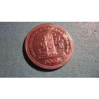 Монета Канада 1 доллар Серебро. 1977 г.