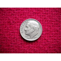 10 центов (дайм) США 1967 г.