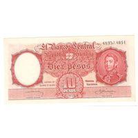 Аргентина 10 песо 1954.