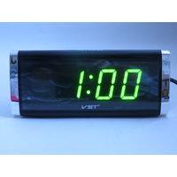 Настольные Сетевые LED часы VST-730, Будильник