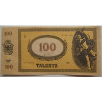Банкнота 100 талантов (talents) 1991 г.