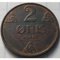 Норвегия 2 эре, 1937            ( 4-7-5 )
