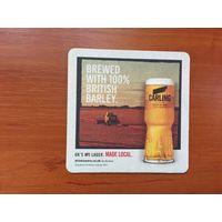 Подставка под пиво Carling No 5 /Великобритания/