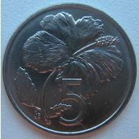 Острова Кука 5 центов 1992 г.