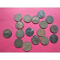 США старые центы с 1 копейки без минимальной цены -9-480
