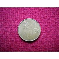 Словакия 1 крона 2002 г.
