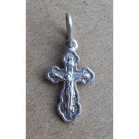 Крест крестик нательный маленький. 925 проба. РПЦ.