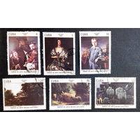 Куба 1981 г. Живопись. Культура. Искусство, полная серия из 6 марок #0067-И1P14