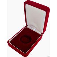 Футляр для монеты бархатный красный с ложементом (10 руб. Au) D 26.5 мм