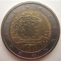 Португалия 2 евро 2015 г. 30 лет флагу Европейского союза