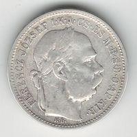 Австро-Венгрия 1 крона 1895 года. Серебро