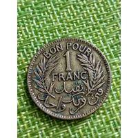 Тунис Французский 1 франк 1945