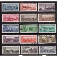 СССР-1958, (Заг.2143-2154)  гаш., Столицы респцблик
