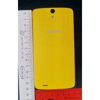 Чехол к смартфону PHILIPS Xenium V387, новый, жёлтый, оригинал
