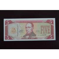 Либерия 5 долларов 2009 UNC