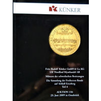 Kunker Auktion 156, 25.06.2009, Аукционный каталог монет шведских владений в Европе. Коллекция баронов Бонде из замка Эриксберг