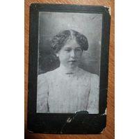 Фото женщины. До 1917 г. Екатеринбург. 6х10 см