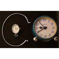 Часы будильник ракета и часы чайка