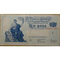 Аргентина 1 песо 1947 года