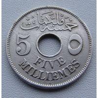 Египет.  5 миллим  1917 год  KM#315