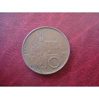 10 крон 1993 год Чехия