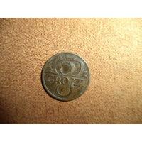 5 грошей 1935 (w) Польша бронза