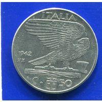 Италия 50 чентезимо 1942 , магнитная