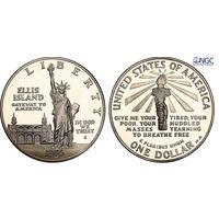 1 доллар 1986 год S Статуя Свободы NGC PF69 ULTRA CAMEO