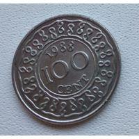 Суринам 100 центов, 1988 6-14-28