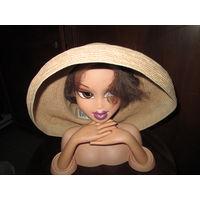 Шляпа фирменная соломенная женская.Eric Javits США.