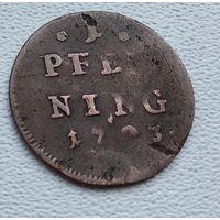 Бавария 1 пфенниг, ?1793? 4-1-15