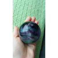 Шар натуральный флюорит диаметр 62 мм + книги про минералы в подарок