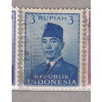 Известные люди личности Президент Сукарно Индонезия 1951 год лот 1012