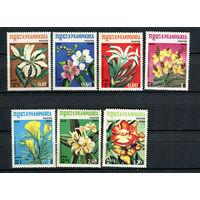 Камбоджа - 1984 - Цветы - (у марок с номиналами 0,10 и 0,80 клей с отпечатками пальцев) - [Mi. 591-597] - полная серия - 7 марок. MNH.